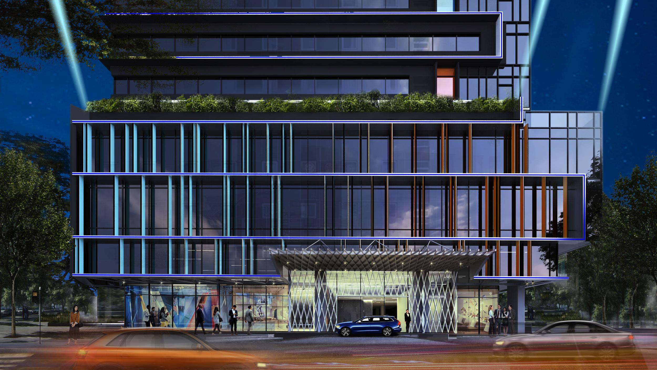 Giải pháp chiếu sáng trung tâm thương mại   An Phước Facade