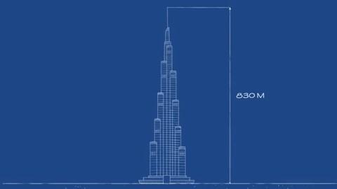 Burj Khalifa - Tòa nhà cao nhất thế giới tính đến thời điểm hiện tại